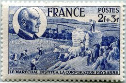 N° Yvert 607 - Timbre De France (1944) - MNH - Corporation Paysanne (DA) - Nuovi