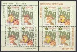Europa Cept 2007 Romania 2 M/s ** Mnh (F4709) Promotion - 2007