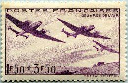 N° Yvert 540 - Timbre De France (1942) - MLH - Au Profit Des Oeuvres De L'Air (DA) - Nuovi