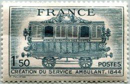 N° Yvert 609 - Timbre De France (1944) - MH - Service Postal Ambulant (DA) - France