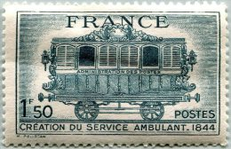 N° Yvert 609 - Timbre De France (1944) - MH - Service Postal Ambulant (DA) - Nuovi