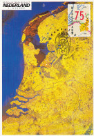 D21542 CARTE MAXIMUM CARD FD 1989 NETHERLANDS - MAP OF THE NETHERLANDS CP ORIGINAL - Géographie