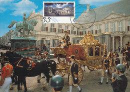 D21548 CARTE MAXIMUM CARD FD 1987 NETHERLANDS - ROYAL PALACE NOORDEINDE THE HAGUE CP ORIGINAL - Architecture