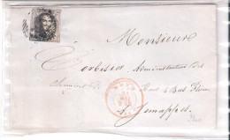 Belgique - Lettre De 1851 De Mons Vers Jemappes (à Voir) - 1851-1857 Medallions (6/8)