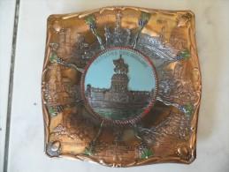 Assiette De Decoration -cuivre -laiton - Allemagne - Deutsches Eck Koblenz  327 - Niederwald Denkmal - A Voir !!! - Publicité