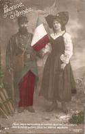 Patriotique Guerre 14/18 --  Bonne Année  Drapeau L'alsace Et Soldat écrite - Patriotiques