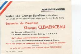Moret Sur Loing - Visitez La Grange Bateliere Maison Clémenceau (souvenirs) Par Mme Michel Clémenceau - Moret Sur Loing