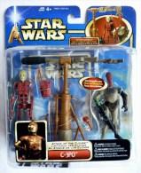 STAR WARS 1995 BLISTER ATTACK OF THE CLONE C3PO + BATTLE DROID C3-PO - Episode II
