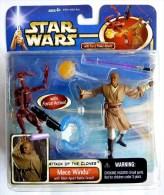 STAR WARS 1995 BLISTER ATTACK OF THE CLONE MACE WINDU  + Battle Droid - Episode II