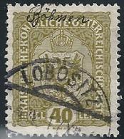 Wappen, 40 H.oliv  LOBOSITZ BÖHMEN       1917 - 1850-1918 Empire