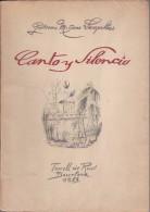 CANTO Y SILENCIO DE GUILLERMO MITJANS DE TORRELL DE REUS AÑO 1953 DE TIRADA 100 Y DEDICADO CON FIRMA DEL AUTOR - Livres, BD, Revues