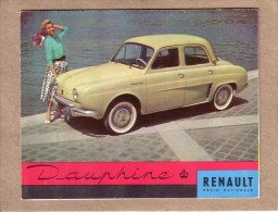 AUTOMOBILES  - PUBLICITE - DEPLIANT 3 VOLETS - RENAULT DAUPHINE - Voitures