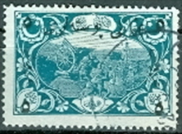 Türkei 1917 Mi. 623 5 Pia. Auf 2 P. Gest. Militär Atellerie - 1858-1921 Ottoman Empire