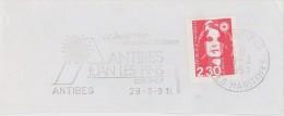 FRANCE. FRAGMENT POSTMARK ANTIBES. FLAMME. 2002 - Marcofilia (sobres)