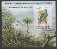 Sao Tomé E Principe 1979 Nature / Bird M/s Used (17988) - Sao Tome En Principe