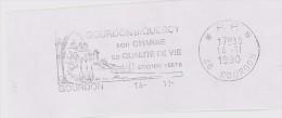 FRANCE. FRAGMENT POSTMARK GOURDON. 1990. FLAMME - Marcofilia (sobres)