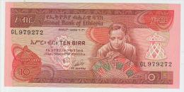 Ethiopia 10 Birr (1969)1976 Pick 32b UNC - Ethiopie