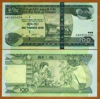 Ethiopia 100 Birr 2008 Pick 52d UNC - Ethiopie
