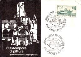 ESTEMPORE DI PITTURA GEMONA DEL FRIULI 1972 (fr0101) - Italy