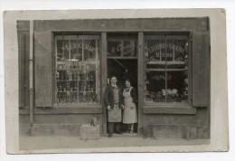 81  - Devanture - Mercerie- M COURTIN -legumes , Grains ,beurre - Carte Photo - Saint Paul Cap De Joux