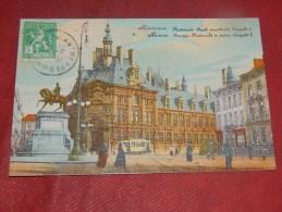 ANTWERPEN - ANVERS  -   Nationale Bank  - Standbeeld  Léopold  I  -   1912  -  (2 Scans) - Antwerpen
