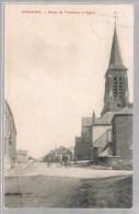 FEIGNIES . Route De Taisnières Et L'Eglise . Animé . - Feignies