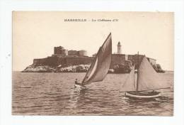 G-I-E , Cp , Bateaux , Voiliers , 13 , MARSEILLE , Le Château D´IF , Vierge - Commerce