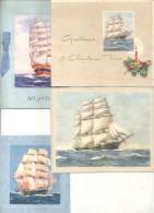 PEQUEÑA COLECCION DE 8 TARJETAS DIVERSAS DE BARCOS PERIODO 1920-1950 BARCHES NAVIOS NAVES BOOTE SCHIFFE SHIPS BARCAS BOA - Old Paper