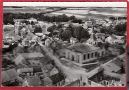 CPSM 51 FERE CHAMPENOISE Vue Générale - Le Centre - L' église Et L' Hôtel De Ville *  Format CPM - Fère-Champenoise