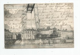G-I-E , Cp , 44 , NANTES , Le Pont Transbordeur , La Nacelle Au Milieu Du Fleuve , Voyagée 1905 - Nantes