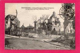 80 SOMME Montdidier Caisse D'Epargne Et Eglise, Guerre 1914-1918, (trèfle à 4 Feuilles) - Oorlog 1914-18