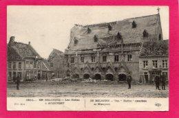 BELGIQUE Nieuport, Les Halles Endommagés, Guerre 1914, (E. L. D.) - Guerre 1914-18