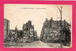 51 MARNE Reims En Ruines, Guerre 1914-1918,  Pub Spiritueux,  (B. F.) - Guerra 1914-18