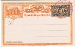 TR-L110 - GUATEMALA Entier Postal Carte Illustrée U.P.U. 1897 Thème Train - Guatemala