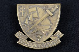 Insigne De Beret Commandos Marine. Beret Vert. - Marine