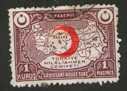 TURCHIA - Turkey 1934 - 1 Piastra 1 Kurus - ROTER ALBMOND - MICHEL N° KR 28A - 1921-... Repubblica