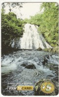 MICRONESIA - Waterfall, FSM Tel Prepaid Card $5, Used