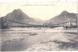 GRENOBLE  Le Drac Le Pont Suspendu Et Le Neron Timbrée TTB - Grenoble