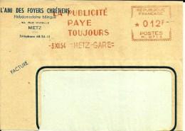 Lettre  EMA Havas M 1954  La Publicité Paye Toujours  Journal Presse Chretiens Metier  57 Metz  A72/42 - Christianisme