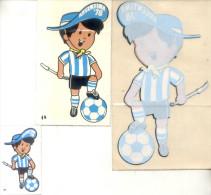3 CALCOMANIAS STICKERS PEGATINAS DIFERENTES DEL MUNDIAL DE FUTBOL ARGENTINA 1978 ORIGINALES - Old Paper