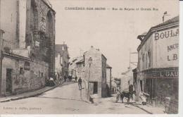 Carrières Sur Seine-Rue De Bezons Et Grande Rue.Edit.Collin. - Carrières-sur-Seine
