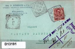 Cartolina Spedito A Castelmaggiore - 1900-44 Victor Emmanuel III