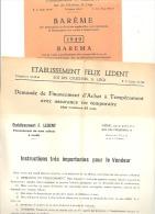 Ets F. LEDENT - Financement, Crédit à LIEGE 1949 - Lot De 3 Documents. - Factures & Documents Commerciaux