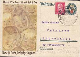 Germany Deutsches Reich Uprated Postal Stationery Ganzsache Nothilfe HANAU 1930 Hindenburg 30. JUNI 1930 Stamp (2 Scans) - Stamped Stationery