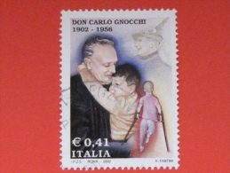 ITALIA USATI 2002 - D0N CARLO GNOCCHI - RIF. G 1862 LUSSO - 6. 1946-.. Repubblica