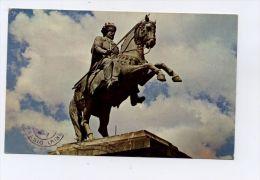 L9723 ADDIS ABEBA - STATUE OF EMPEROR MENELIK II - Etiopía