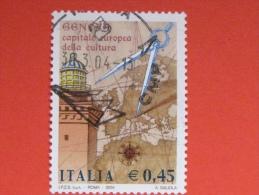 ITALIA USATI 2004 - GENOVA 2004 Capitale Europea Della Cultura - RIF. G 1863 LUSSO - 6. 1946-.. Repubblica