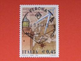 ITALIA USATI 2004 - GENOVA 2004 Capitale Europea Della Cultura - RIF. G 1865 LUSSO - 6. 1946-.. Repubblica