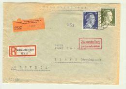 Heimat GR  Ilanz 1942-09-13 Internierten R-Brief DR Berent - Briefe U. Dokumente