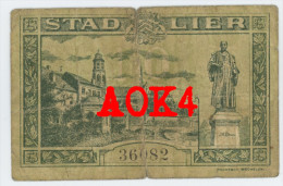Noodgeld LIER 1918 10 Cent Argent De Nécessité Notgeld Poortman Mechelen Duitse Bezetting 36082 - [ 3] Occupations Allemandes De La Belgique